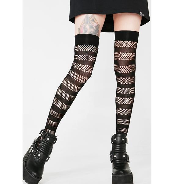 Killstar Shena Fishnet Stockings