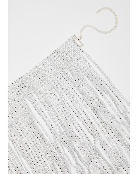 Iced Over Fringe Necklace