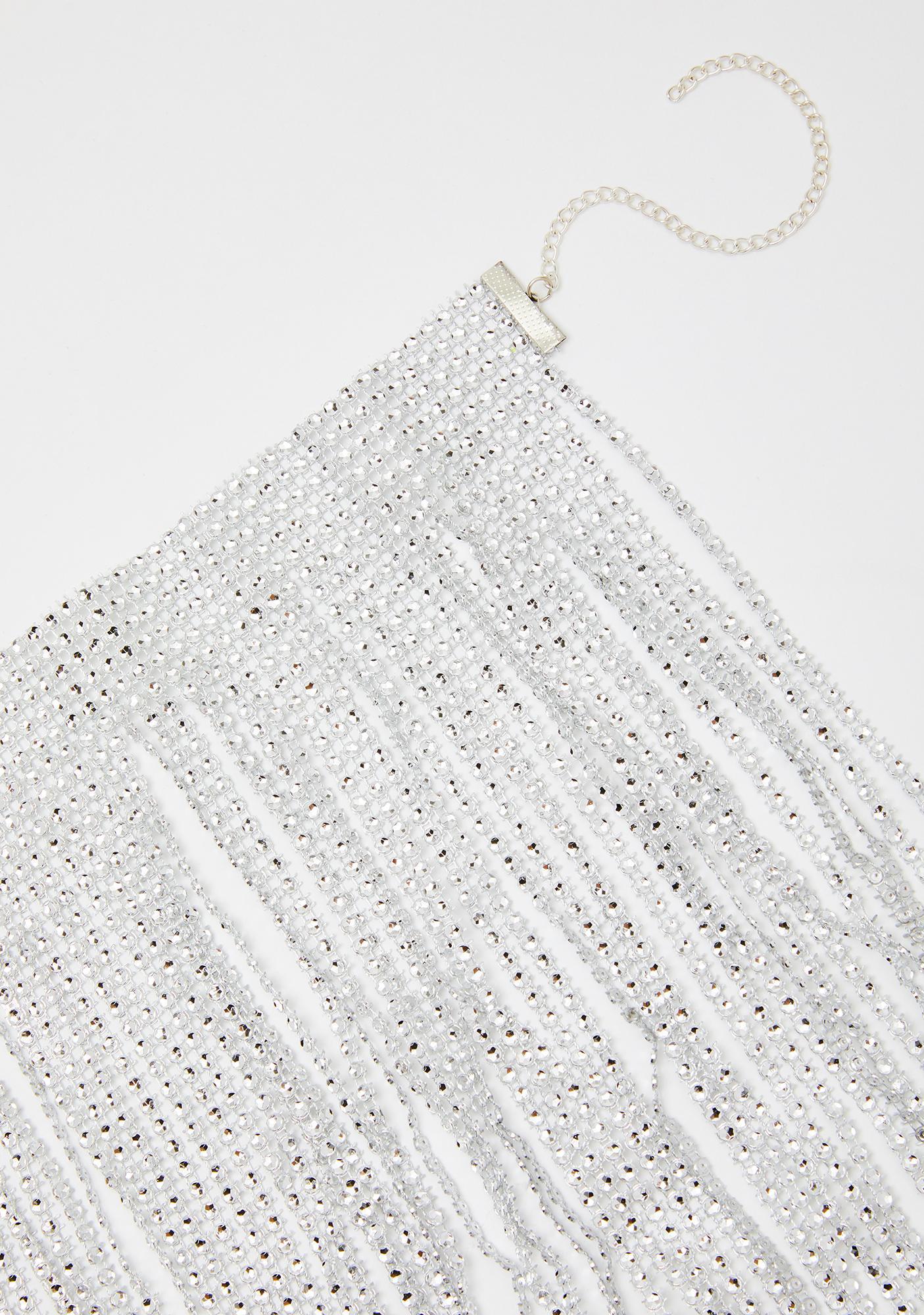 Iced Over Fringe Necklace
