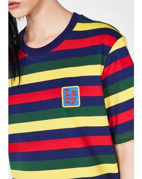 Big Stripe Lazy T-Shirt