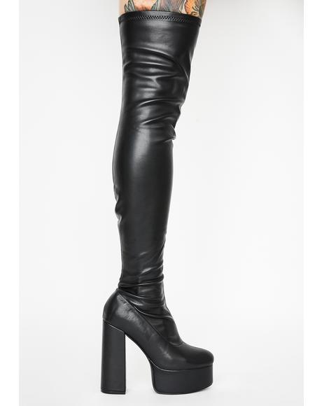 Blackout Miss Behave Thigh High Boots