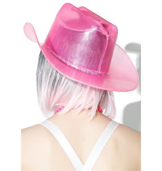Bubblegum Light It Up Cowboy Hat
