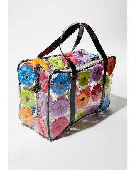 Friendly Flower Clear Weekender