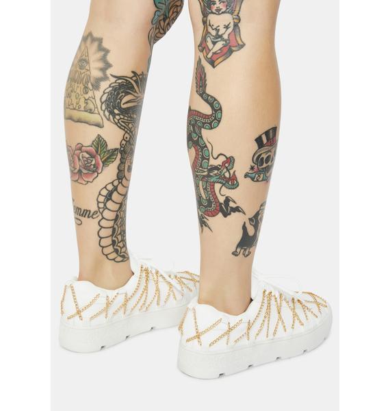 Blanc My Temptation Platform Sneakers