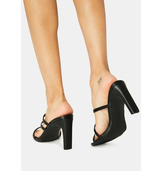 Noir Next Trend Strappy Heels