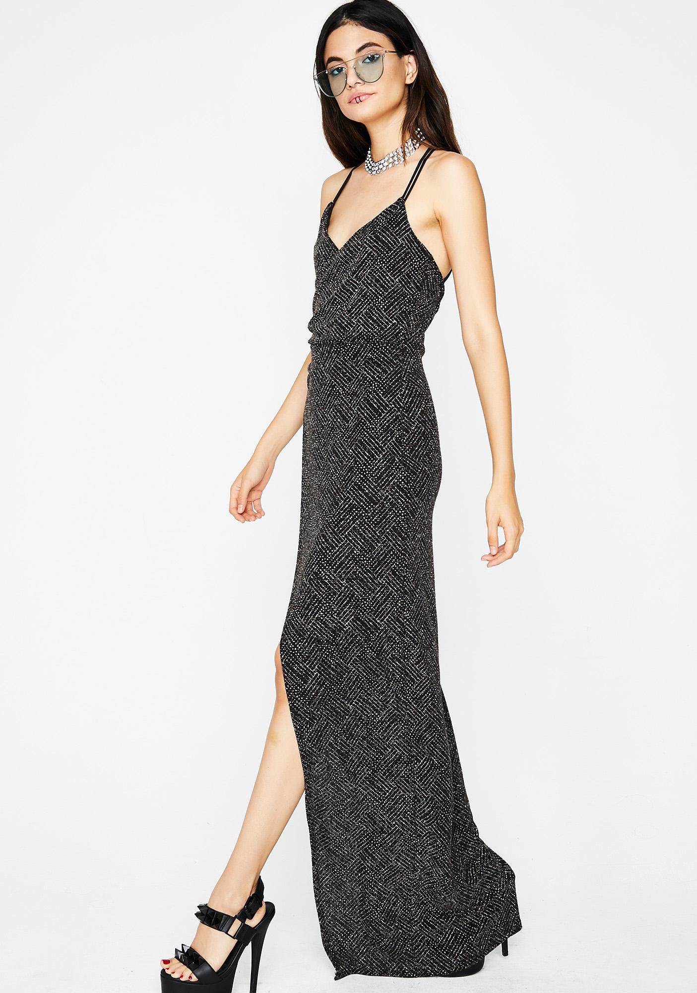 Black Sparkly Maxi Dress  a0f35e070