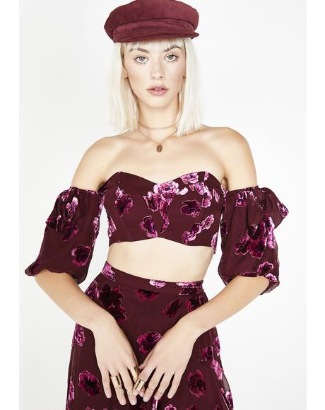 Sophie Velvet Floral Top