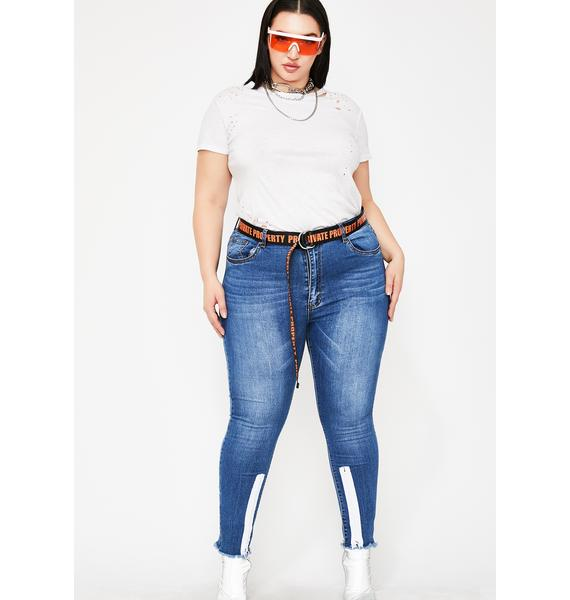 Aqua Radioactive Drip Skinny Jeans
