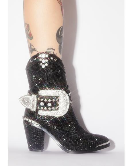 Midnight Sheriff Shine Cowboy Boots