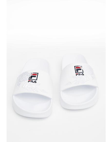 Drifter Embroidered Slides
