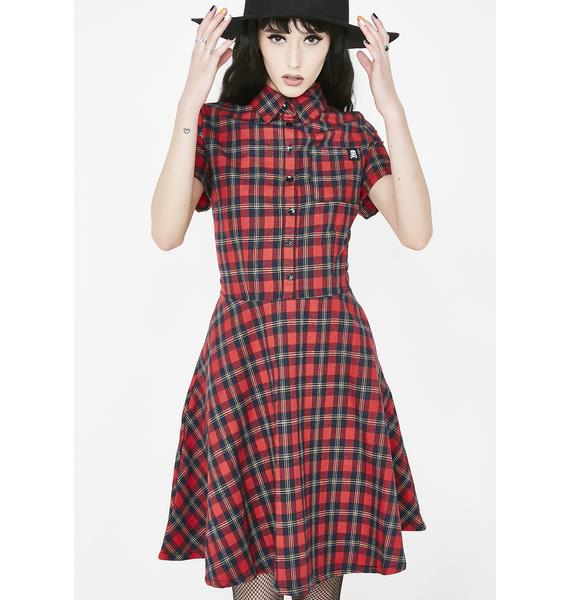 80b79ca8661 Sourpuss Clothing Plaid Button Down Dress ...