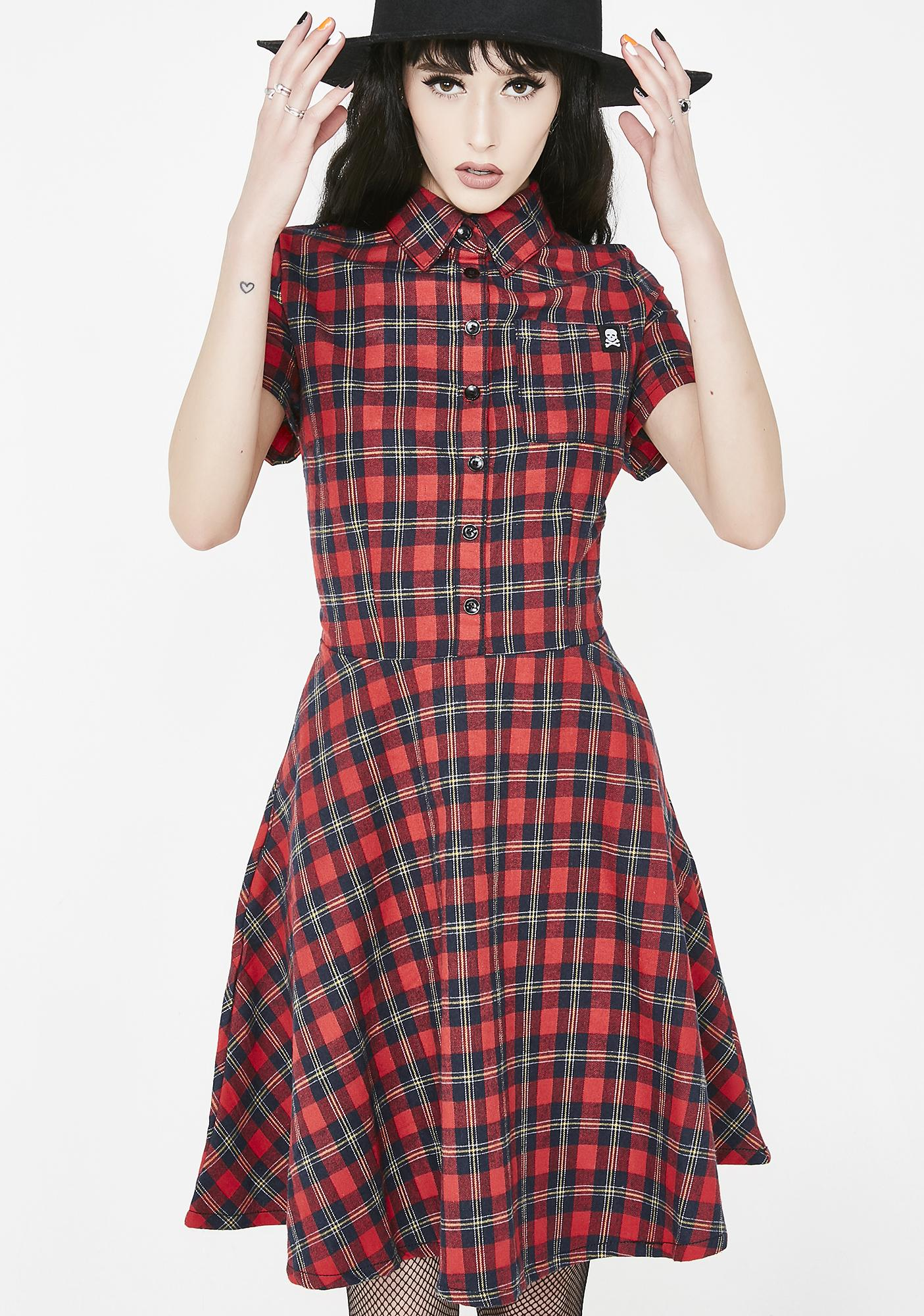 ac7887e6972 Sourpuss Clothing Plaid Button Down Dress