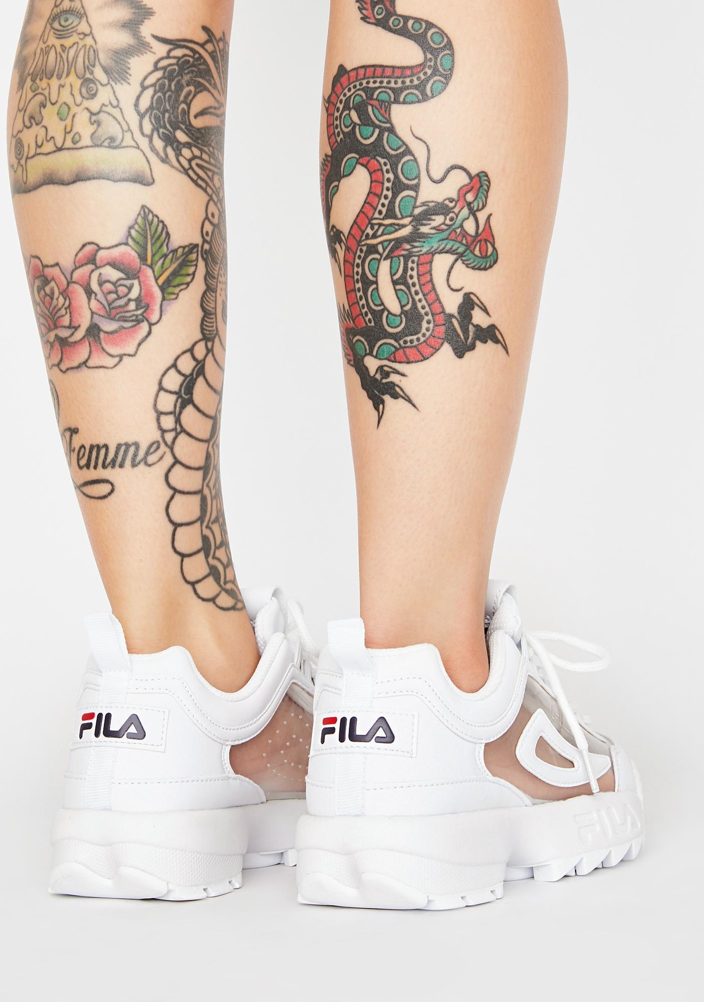 Fila Disruptor 2 Clear Sneakers