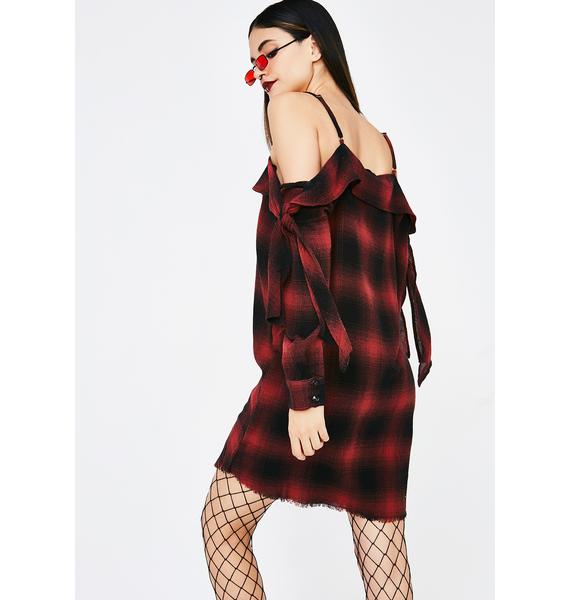 Daily Detention Plaid Dress