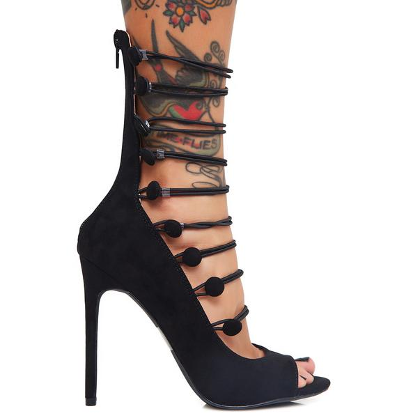 Irina Strappy Peep Toe Heels