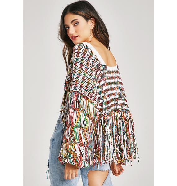Funfetti Fringe Sweater