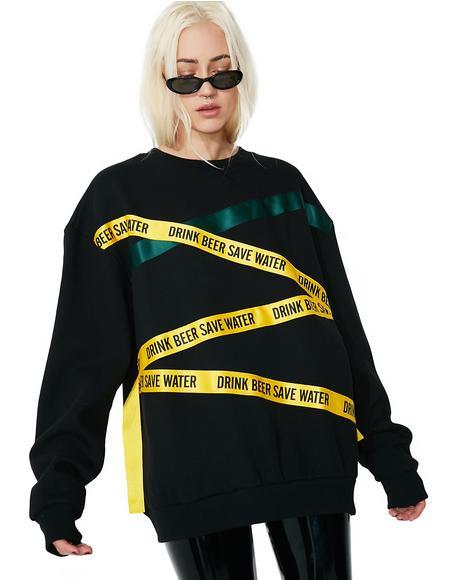 Banded Sweatshirt