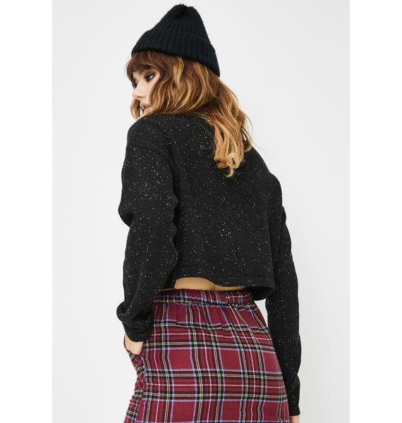 Daisy Street Check Mini Slim Skirt