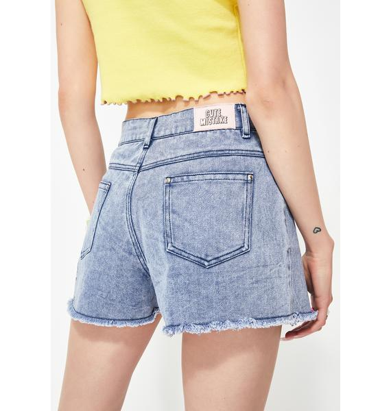 Cute Mistake Hypnotize Me Denim Shorts