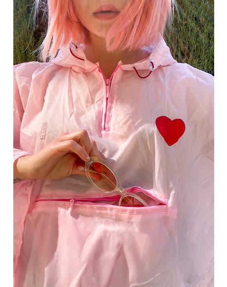Raining Love Heart Poncho