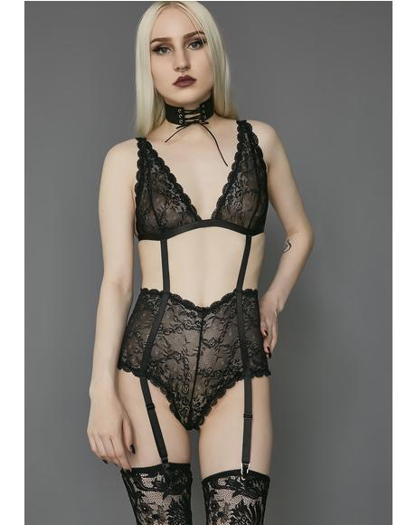 She Is The Dark Lace Bodysuit