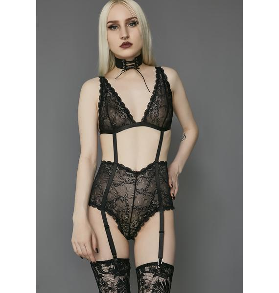 Widow She Is The Dark Lace Bodysuit