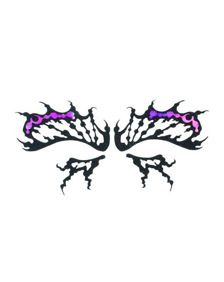 Butterfly Iridescence Face Lace