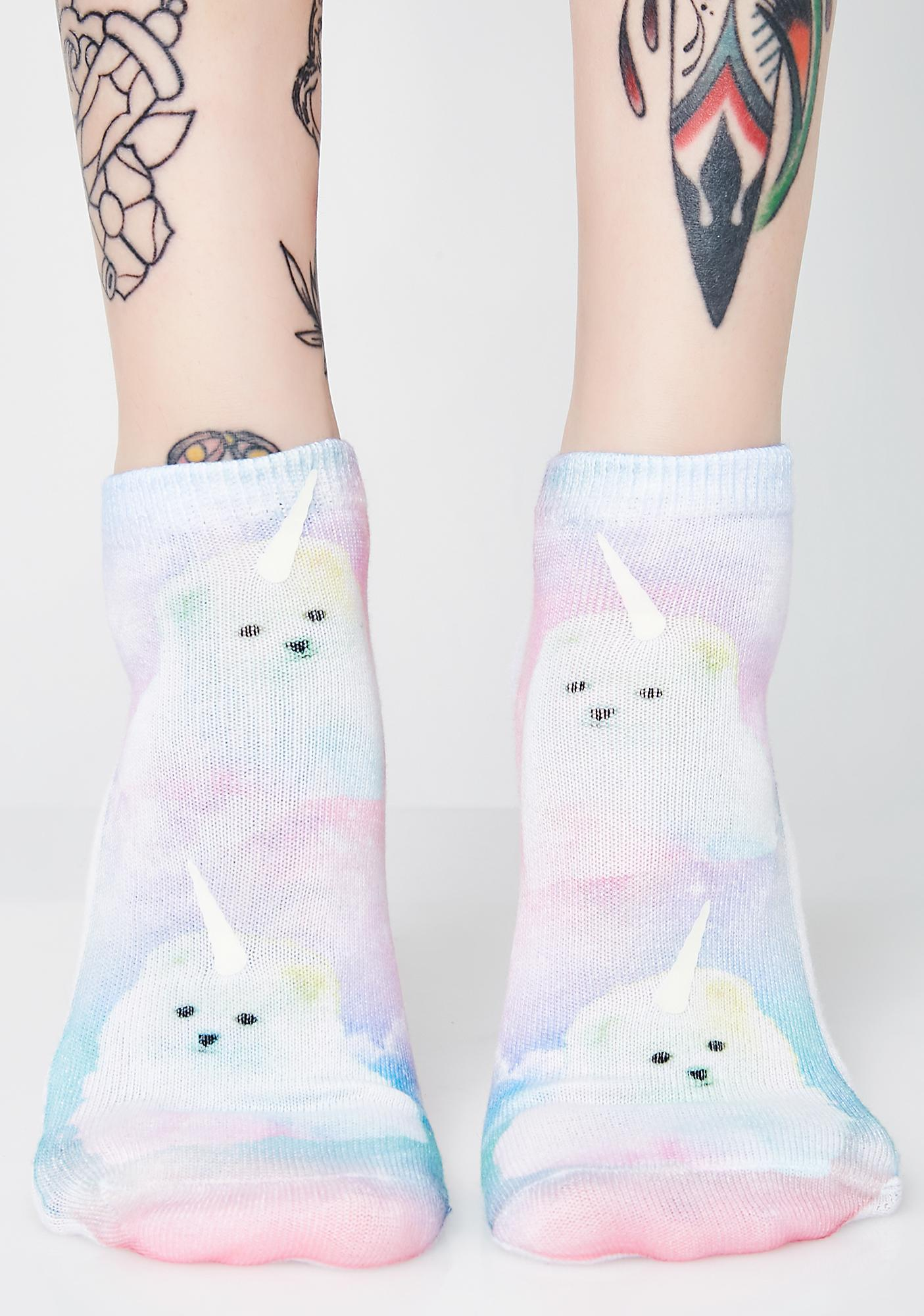 Mythical Pup Glow Ankle Socks