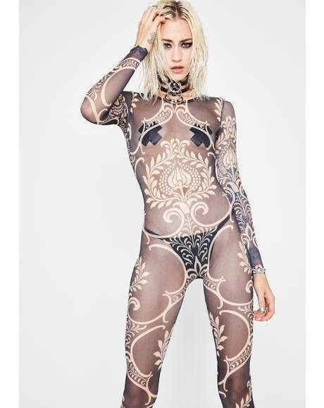Royal Dimension Sheer Catsuit