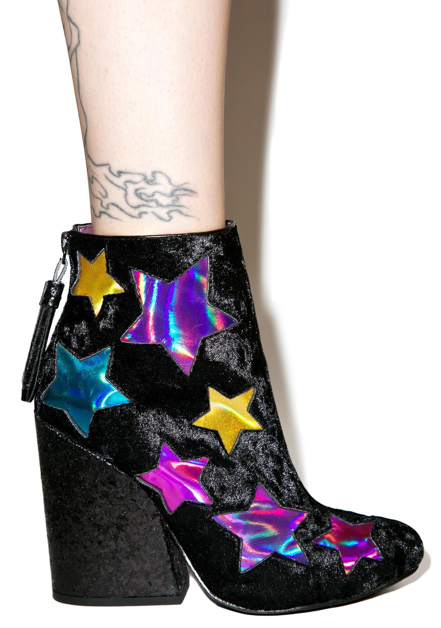 Y.R.U. Velvet Jem Ankle Boots