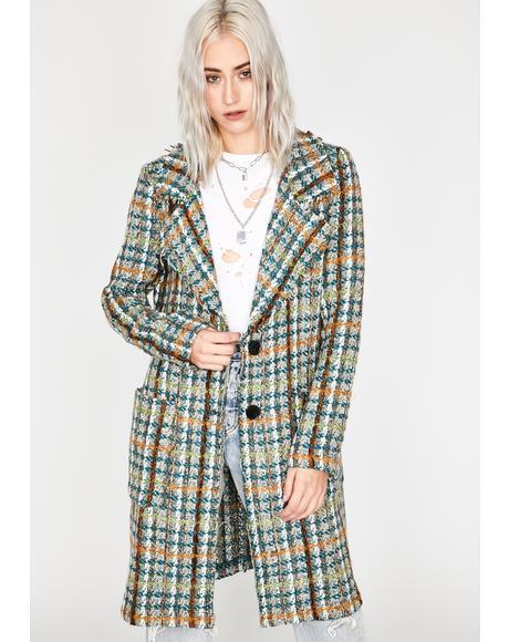 Jade Windy City Tweed Coat