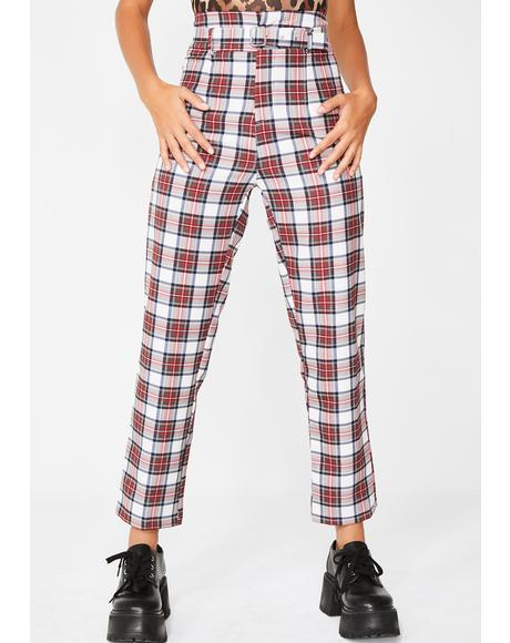 Slacker Behavior Plaid Pants