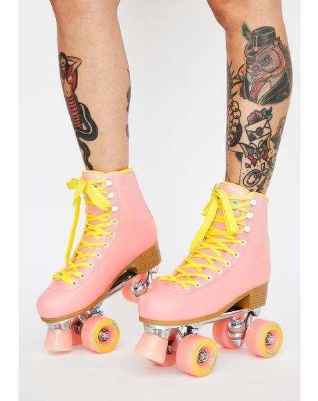 Pink Impala Quad Skates