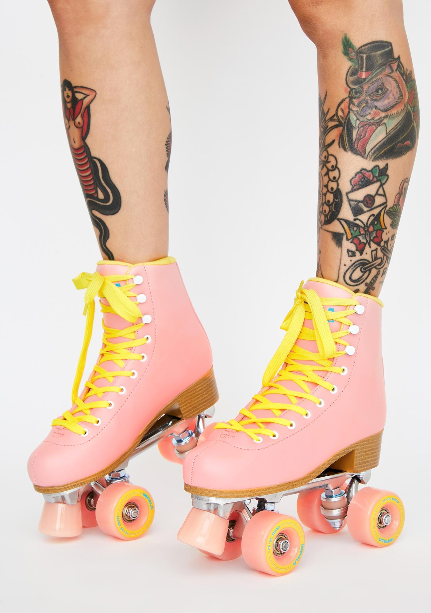 Pink Impala Quad Skates by Impala Rollerskates