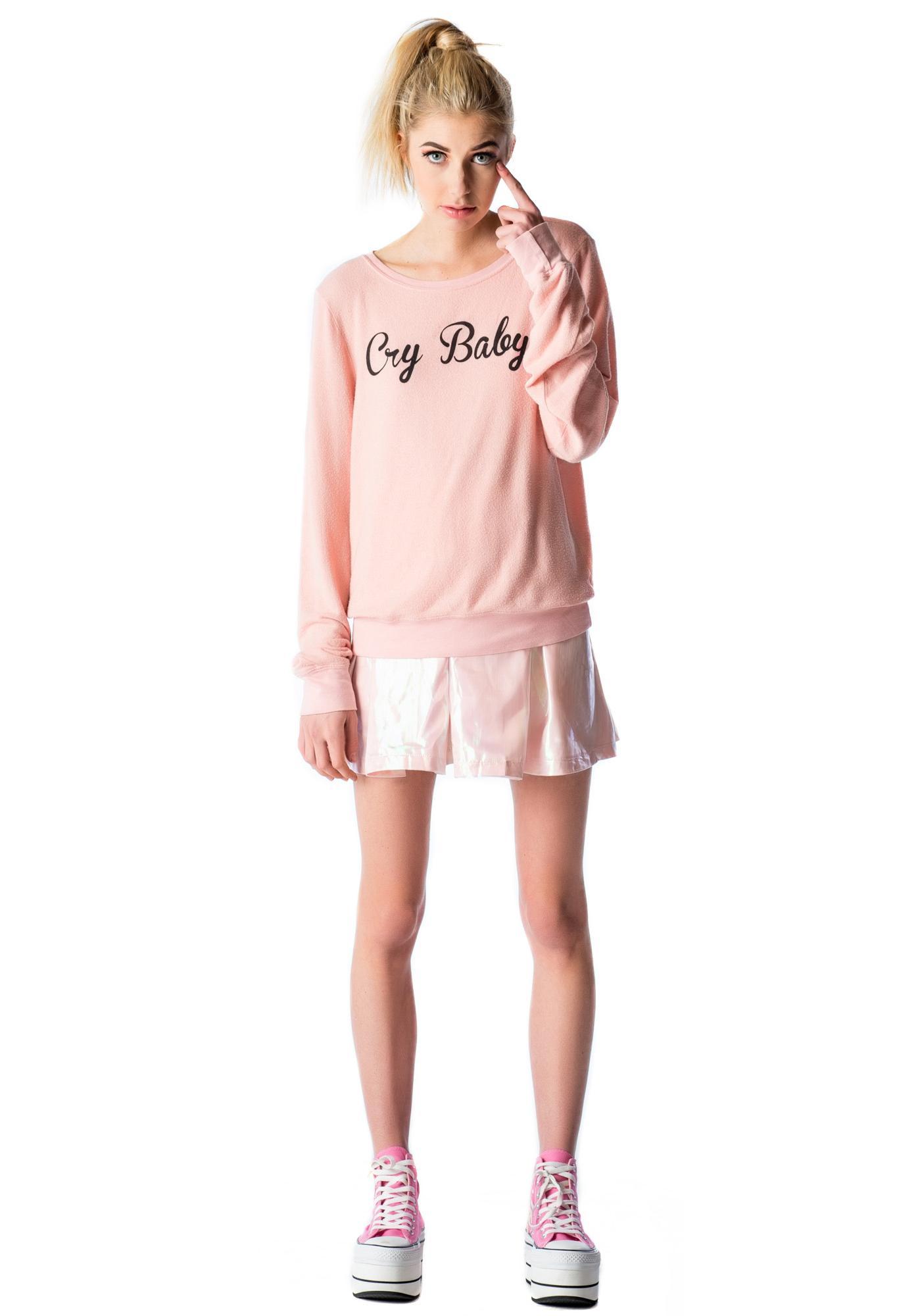 dfa09b17de61 Wildfox Couture Cry Baby Baggy Beach Jumper