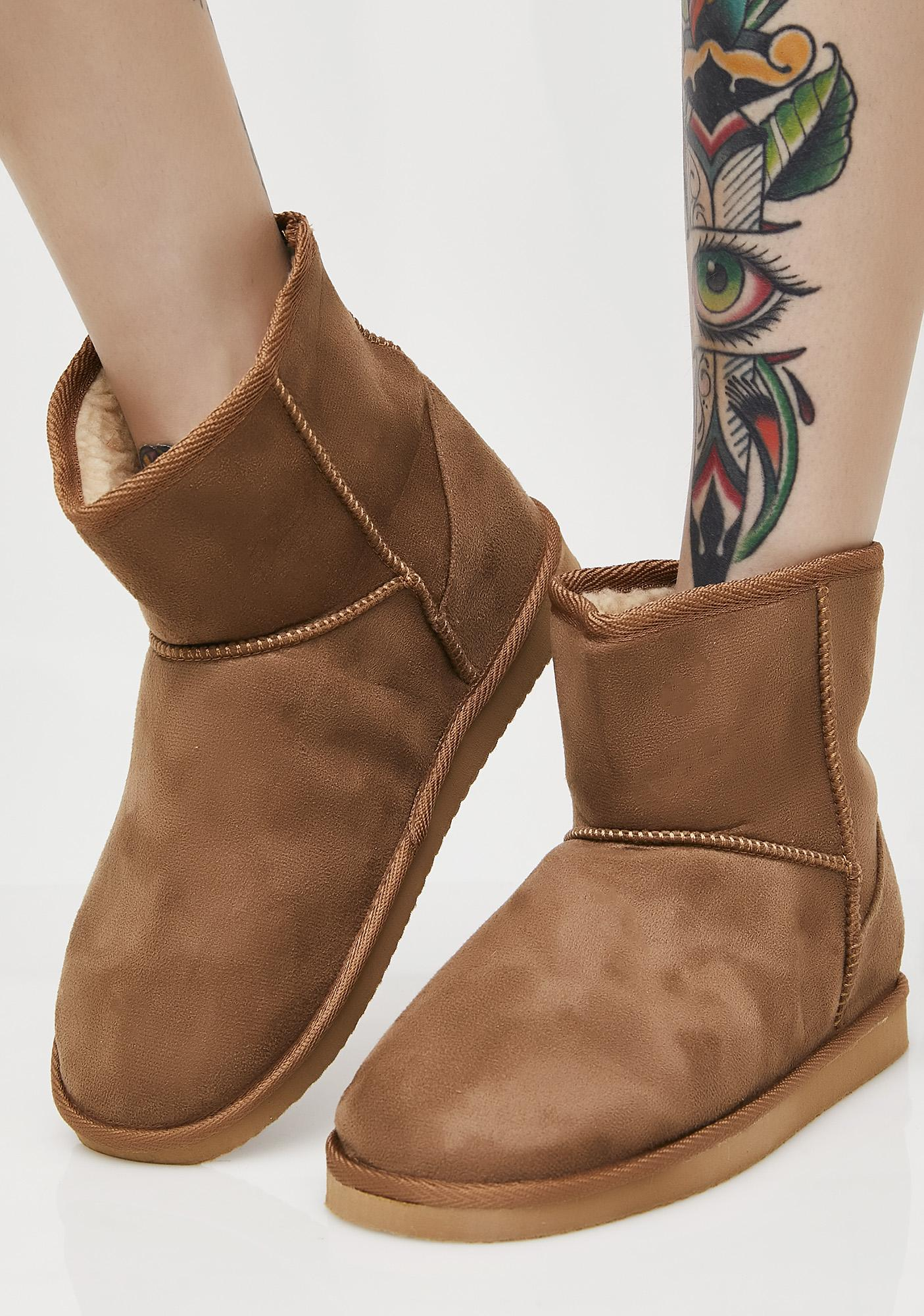 Chestnut Too Comfy Slipper Boots