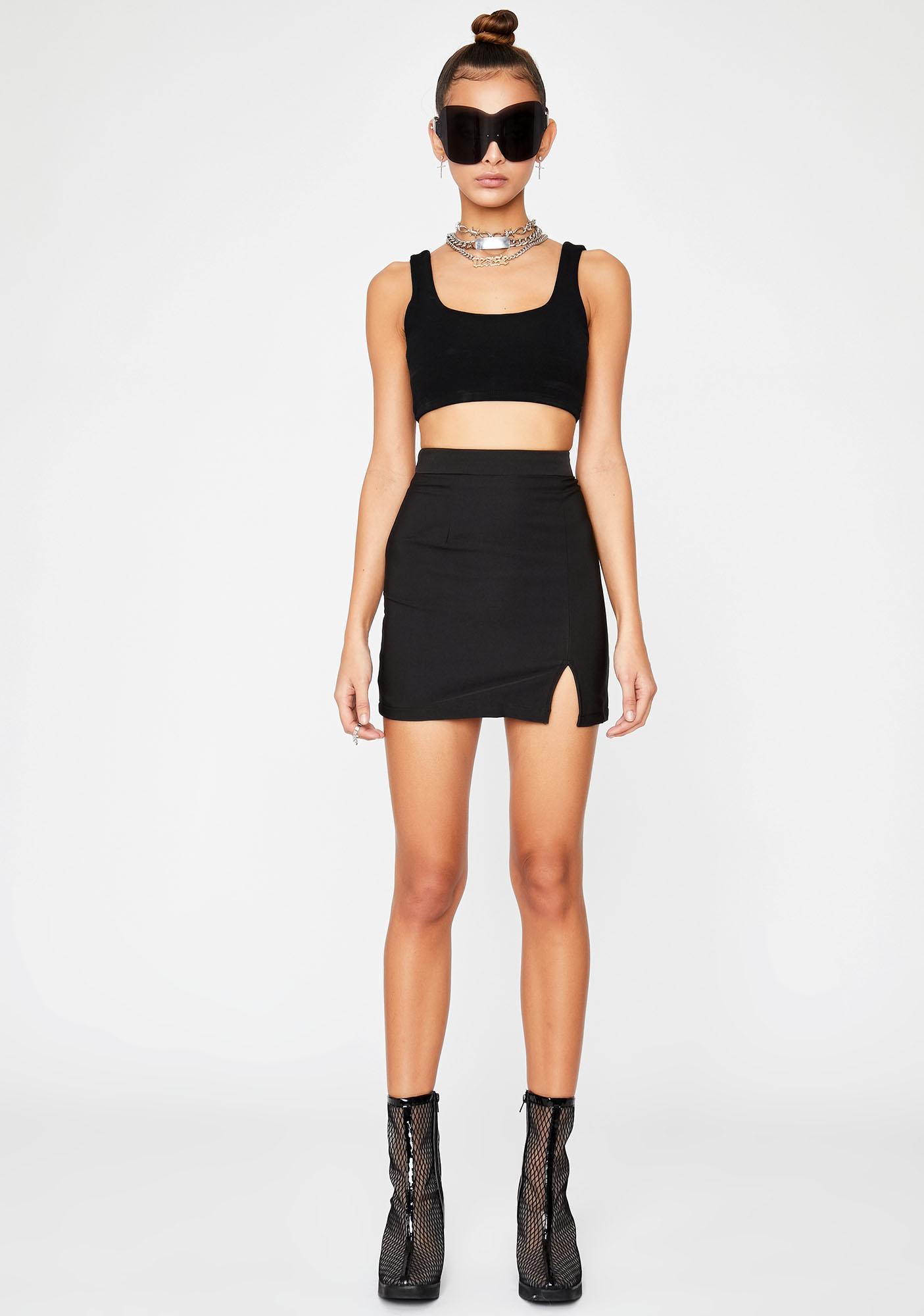Dark Hey Sista Mini Skirt