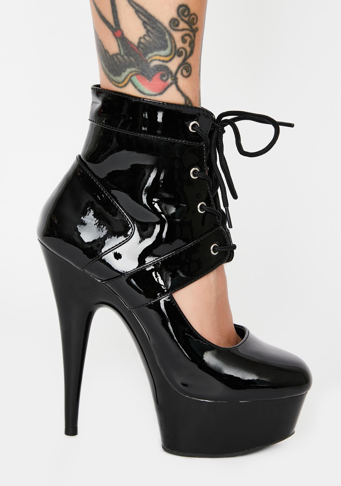 Pleaser Beggin' For More Platform Heels