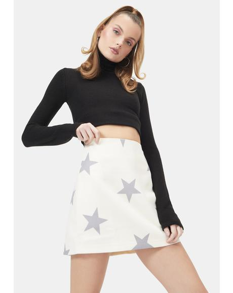 It's My Moment Star Mini Skirt
