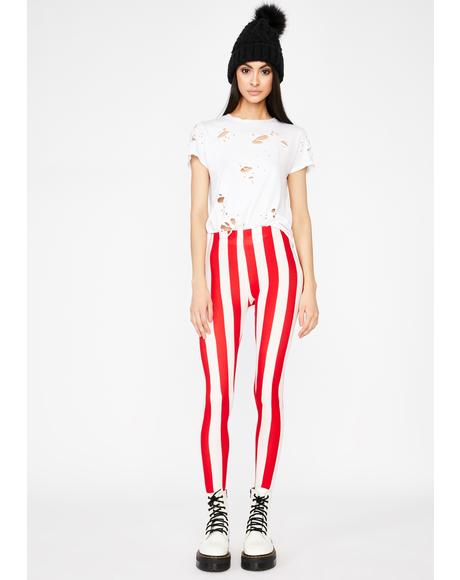 Sweet N' Twisted Candy Cane Leggings