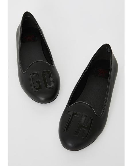 Goth Pointed Flats
