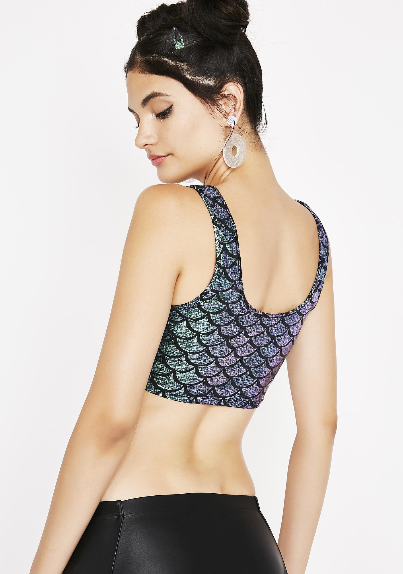 Mermaid Fantasy Crop Top