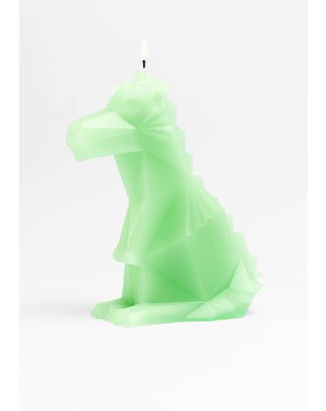 Dreki Neo Mint Dino Candle
