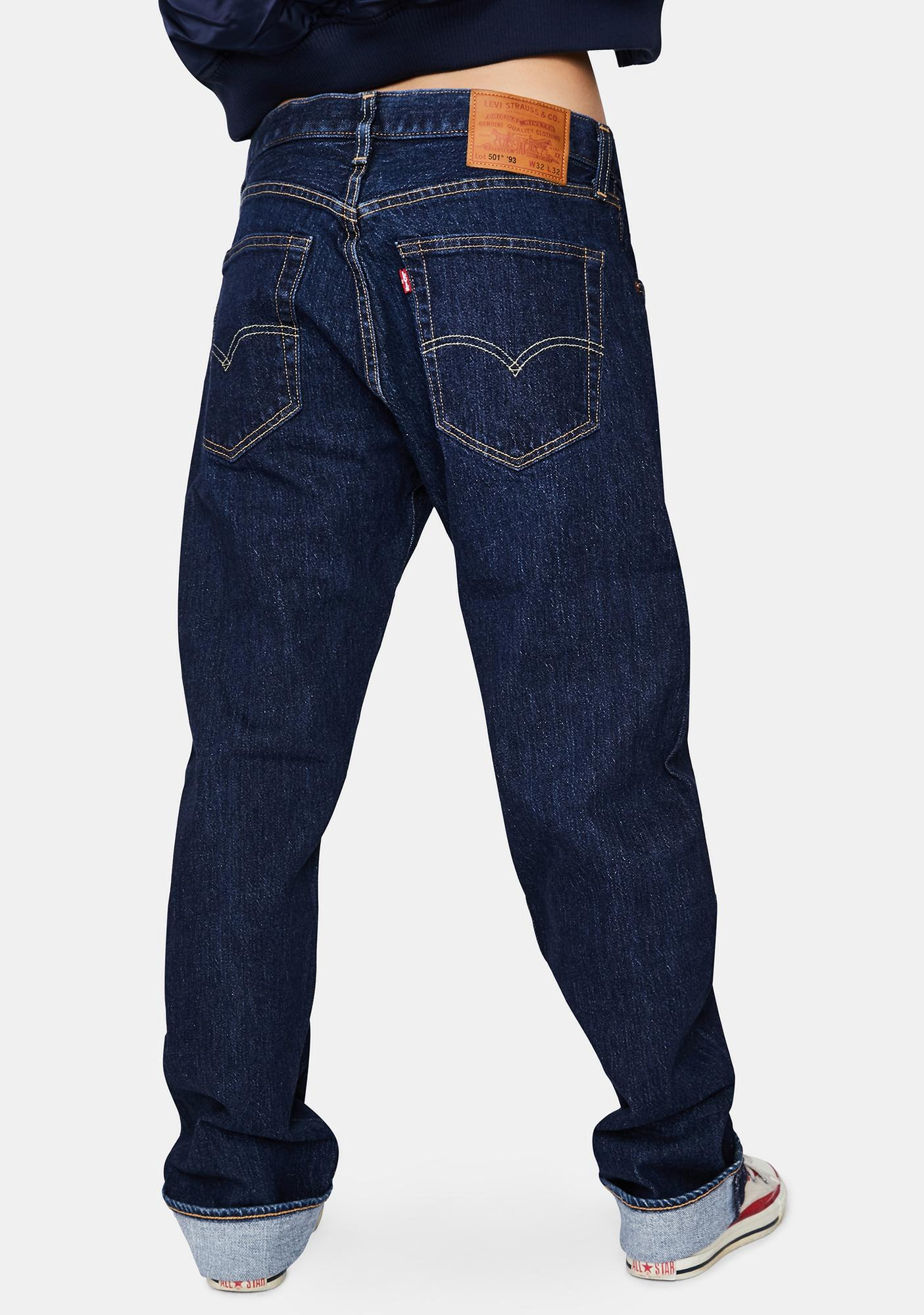 Levis Heather Rinse 501 Straight Leg Jeans