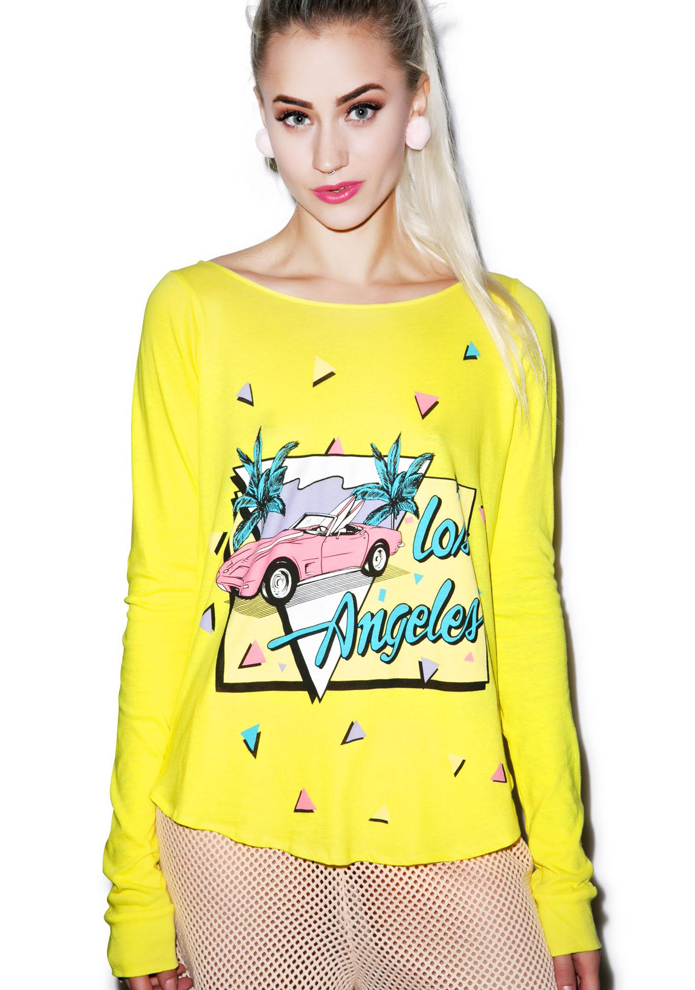 Wildfox Couture Angeles Vet Long-Sleeved Cassidy Tee