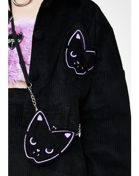 Purrple Embroidered Bag