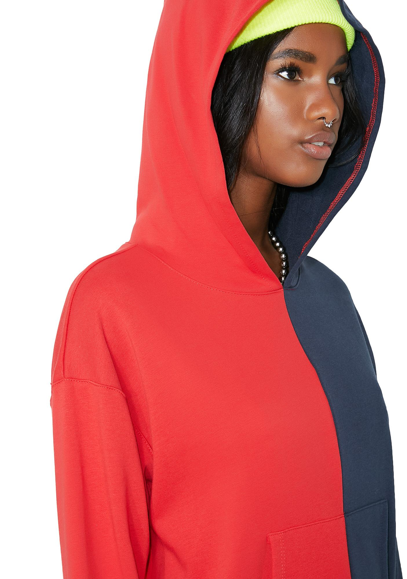 Side To Side Split Hoodie