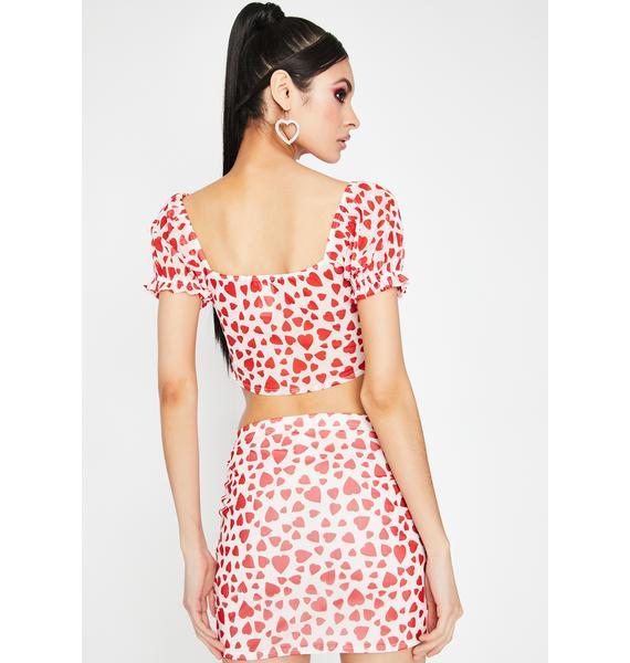 Chasin' Hearts Skirt Set