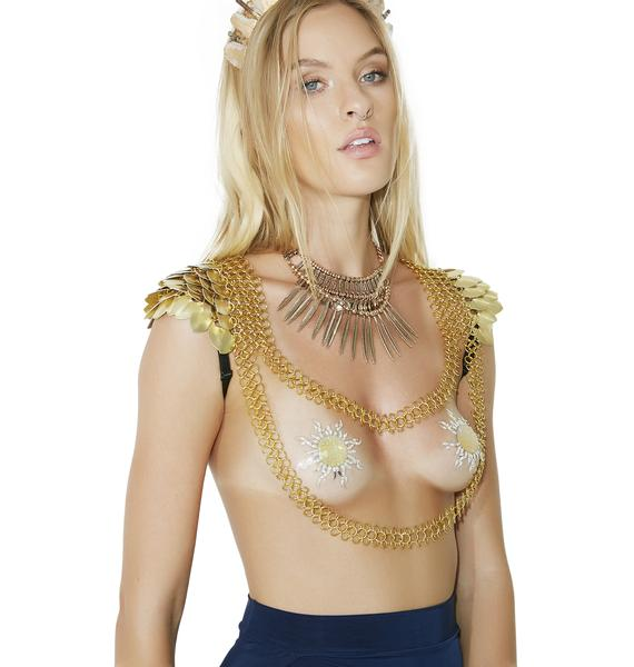 IT IS KNOWN Light Elf Scale Shoulder Armor