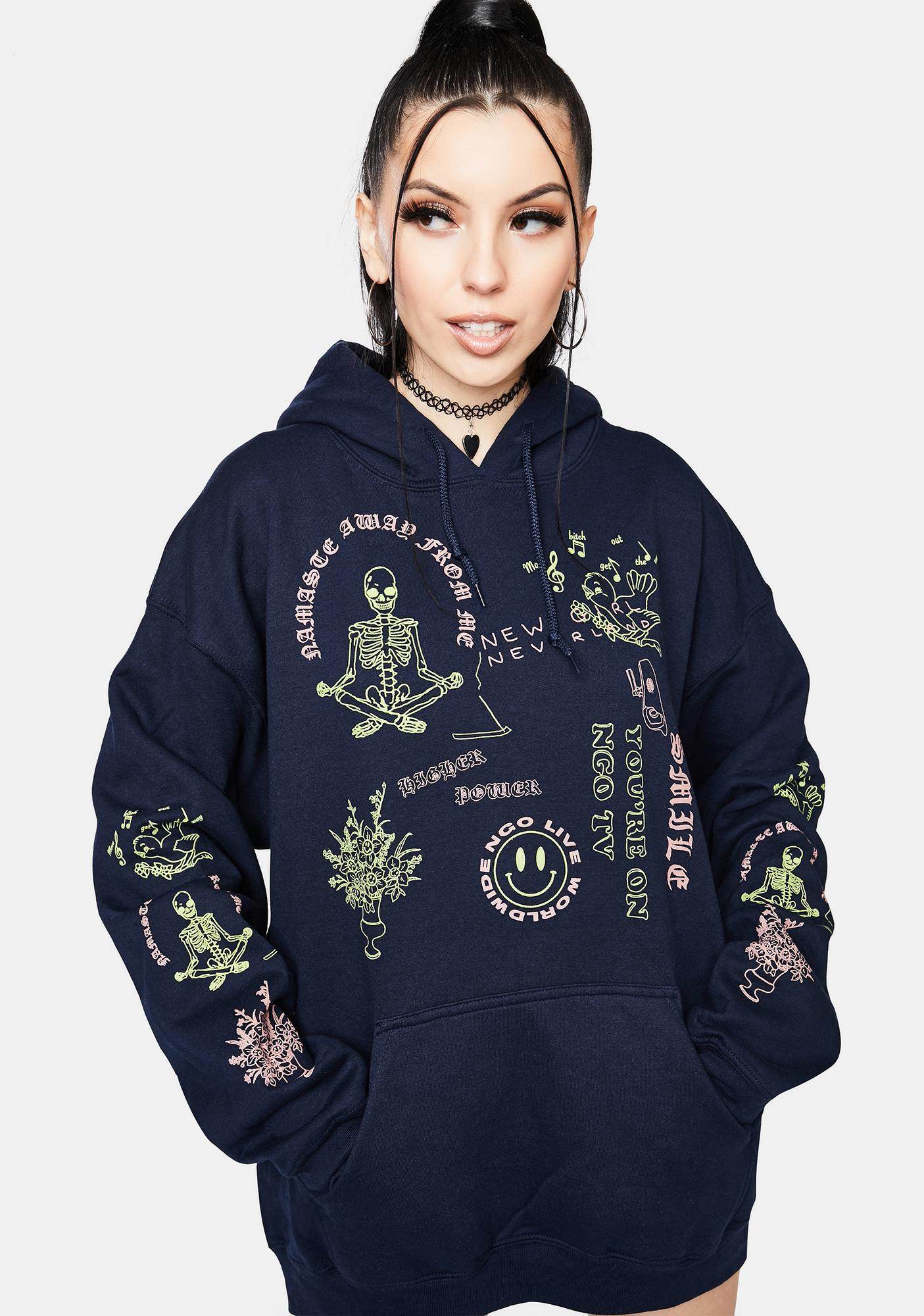 NEW GIRL ORDER Fantasy Land Graphic Hoodie